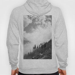 Mountains, Valleys and Forests. Yosemite National Park, Black and White Photography, Clouds and Fog Hoody