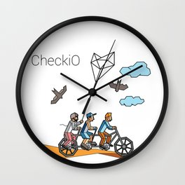 CheckiO bike Wall Clock