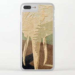 Elephant in the Jungle Camouflage Clear iPhone Case
