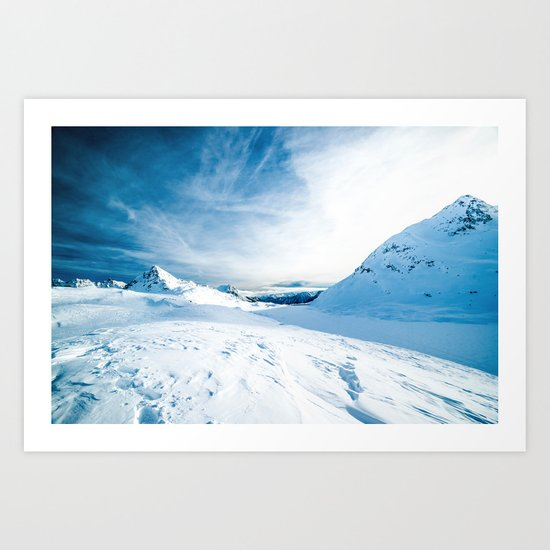 Mountain ice 2 Art Print