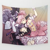 madoka Wall Tapestries featuring Troubling Fate by Lettie Bug