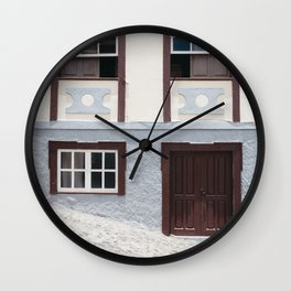 Building and street. La Palma, Canary Island. Wall Clock