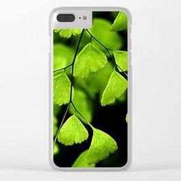 Maidenhair Ferns Clear iPhone Case