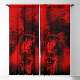 baboon monkey wsbr Blackout Curtain