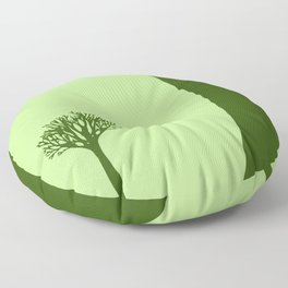 The Body of a Nature - pop art stylised erotic vector illustration in green Floor Pillow