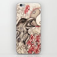 ying yang iPhone & iPod Skins featuring Ying Yang  by Emalee Røse