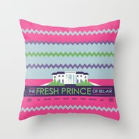 fresh prince Throw Pillows featuring The Fresh Prince of Bel-Air by Dwele Rosa