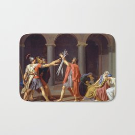 Oath of the Horatii by Jacques-Louis David Bath Mat