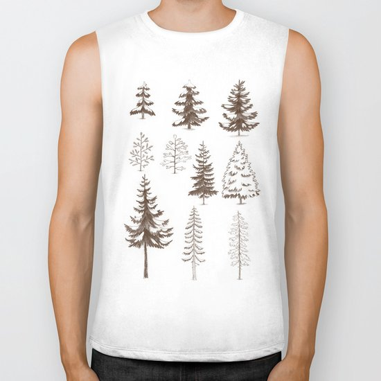Pines and Spruces Biker Tank