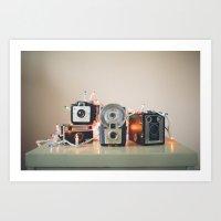 vintage holiday cameras Art Print