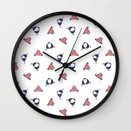 USA american flag bikini print Wall Clock