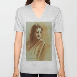 An Indian Woman Unisex V-Neck