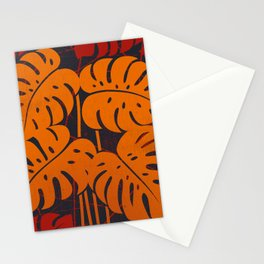 PLANTS - philodendron#2_Orange Stationery Cards