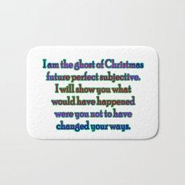 "Funny ""Ghost of Christmas Past"" Joke Bath Mat"