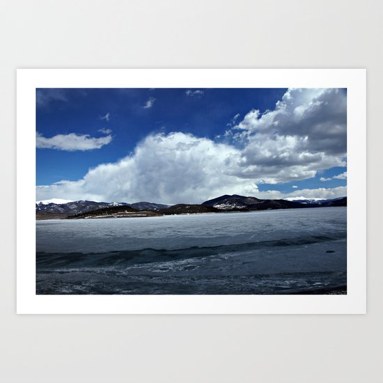 Mountain Clouds over Icy Lake Dillon Art Print