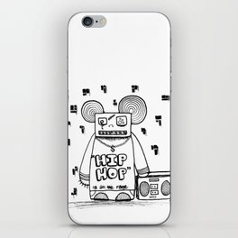 hip hop is all the rage iPhone Skin