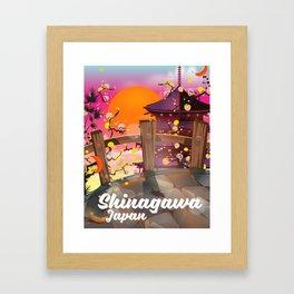 Shinagawa Japan travel poster Framed Art Print