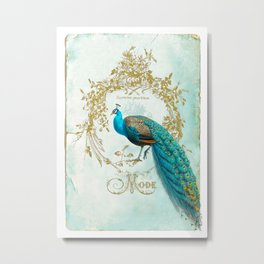 Peacock Mode Metal Print