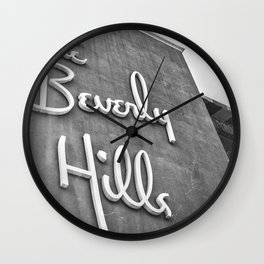 The Beverly Hills Hotel Wall Clock