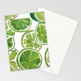 Watercolor LIMES Stationery Cards