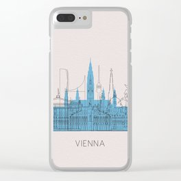 Vienna Landmarks Poster Clear iPhone Case