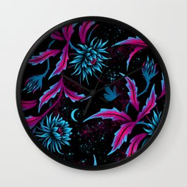 Queen of the Night - Black Purple Wall Clock