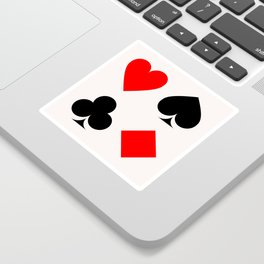 Heart, Pike, Clover & Diamond Sticker
