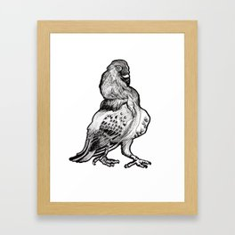 Trash Bird Framed Art Print