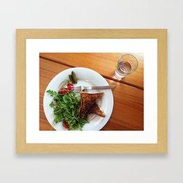 Grilled cheese 'n' gherkins Framed Art Print