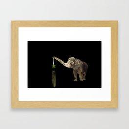 Elephant Demolition Machine Framed Art Print