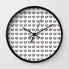 Party Panda Party Hats Pattern Design Wall Clock