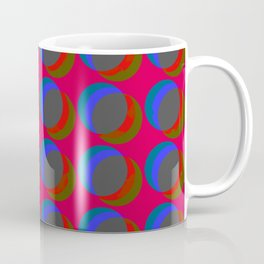 B.L.I.N.K. - optical illusion in red and blue Coffee Mug