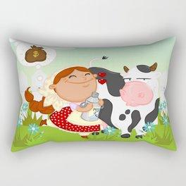 The milkmaid Rectangular Pillow