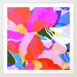 Abstract Florals I Art Print