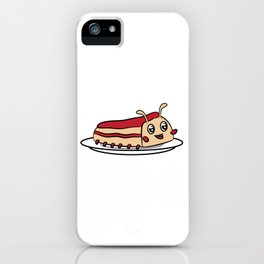"Cute funny and attractive ""Worm Cake"" tee design. Perfect gift this holiday season to your friends!  iPhone Case"
