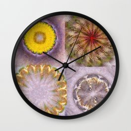 Paligorskite Being Flower  ID:16165-060146-91170 Wall Clock
