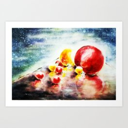 Cosmic Baubles Art Print
