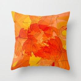 Autumn leaves - sketch Throw Pillow