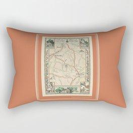 Bedford Village New York Map Print Rectangular Pillow