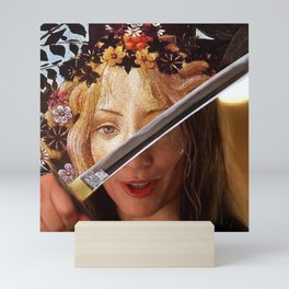 Kill Bill's Elle Driver & Botticelli's Flora Mini Art Print