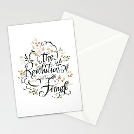 The Revolution Will be Female - 3 Stationery Cards