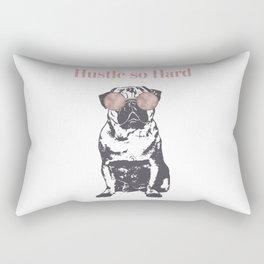 Hustle Pug Rectangular Pillow