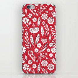 Blooming field - red iPhone Skin