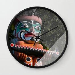 Geometric Totem Pole Wall Clock