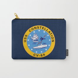 USS Constellation CV-64 Aircraft Carrier Insignia Carry-All Pouch