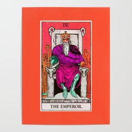 4. The Emperor- Neon Dreams Tarot Poster