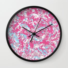 Unicorn abstract hand-painted texture Wall Clock