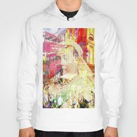 england Hoodies featuring Old England by Ganech joe