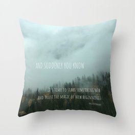 Magic of New Beginnings Throw Pillow