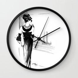 Breakfast at Tiffany's Sketch Wall Clock